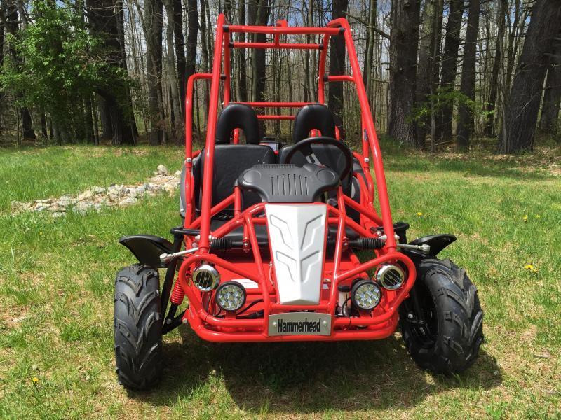 Holiday Special! NEW Hammerhead MudHead 208R Go Kart ages 8-13-Red