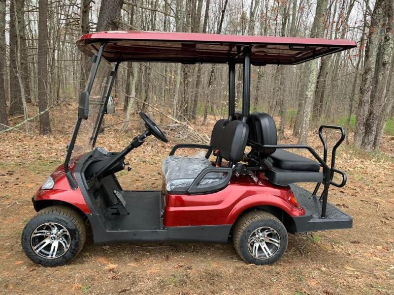 Spring Special!! 25 MPH NEW AEV LUXURY 48 Volt 4 PERSON electric golf car-Burgundy