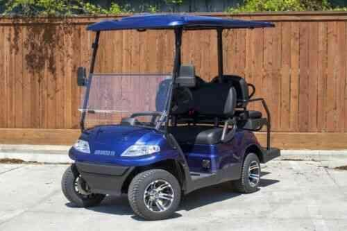 Summer Special!! 25 MPH NEW AEV LUXURY 48 Volt 4 PERSON electric golf car-Blue