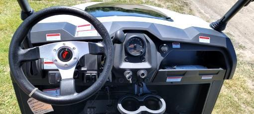 Rover 200 25 MPH Fuel Injected GAS 4 pass golf car style UTV-White