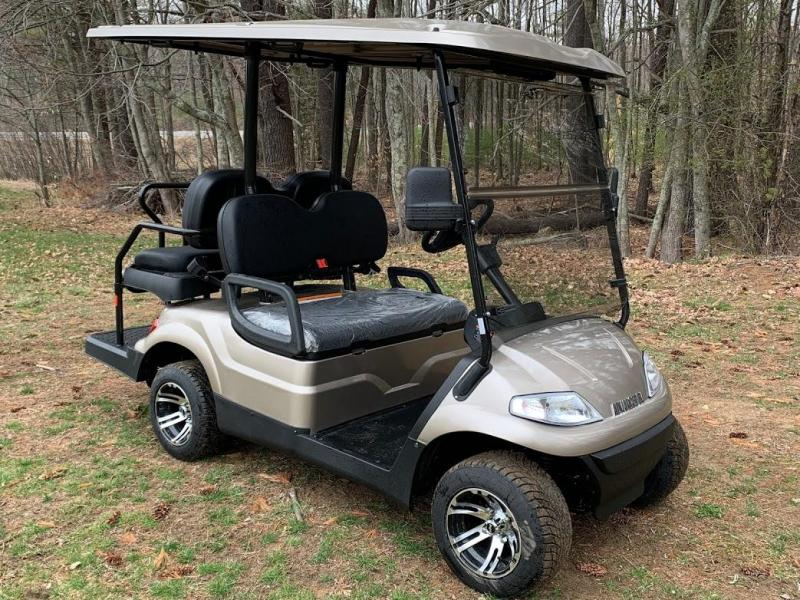 Spring Special!25 MPH LUXURY AEV Street Legal 48volt 4 Pass golf car Taupe
