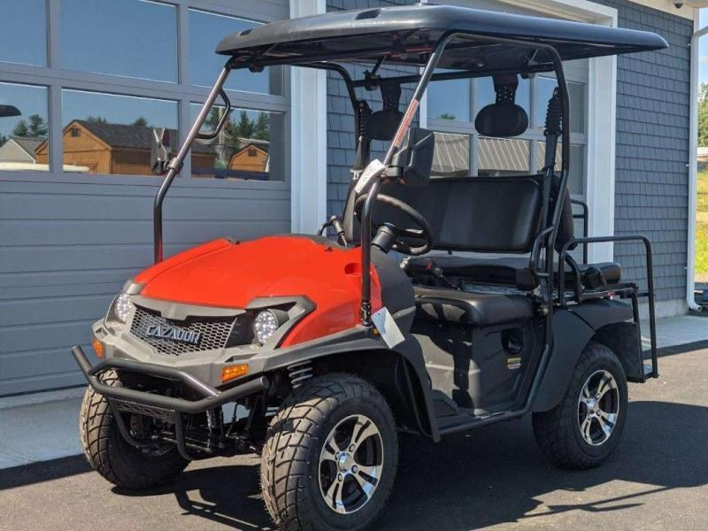 Taurus 200GX 25 MPH Fuel Injected GAS 4 pass golf car style UTV w/Hi-Lo gears-Orange