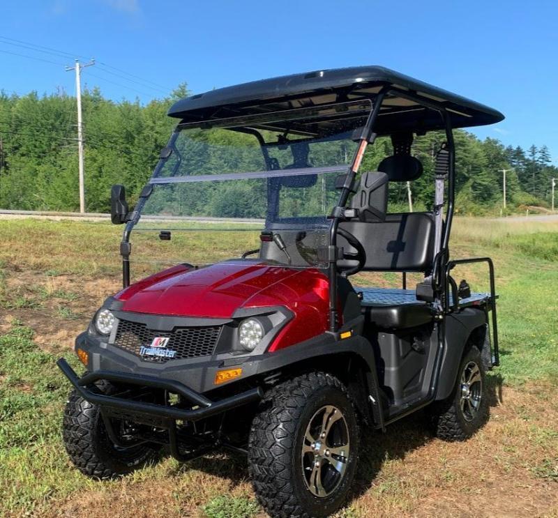 Taurus 200GX 25 MPH GAS 4 pass golf car style UTV w/Hi-Lo gears-Red