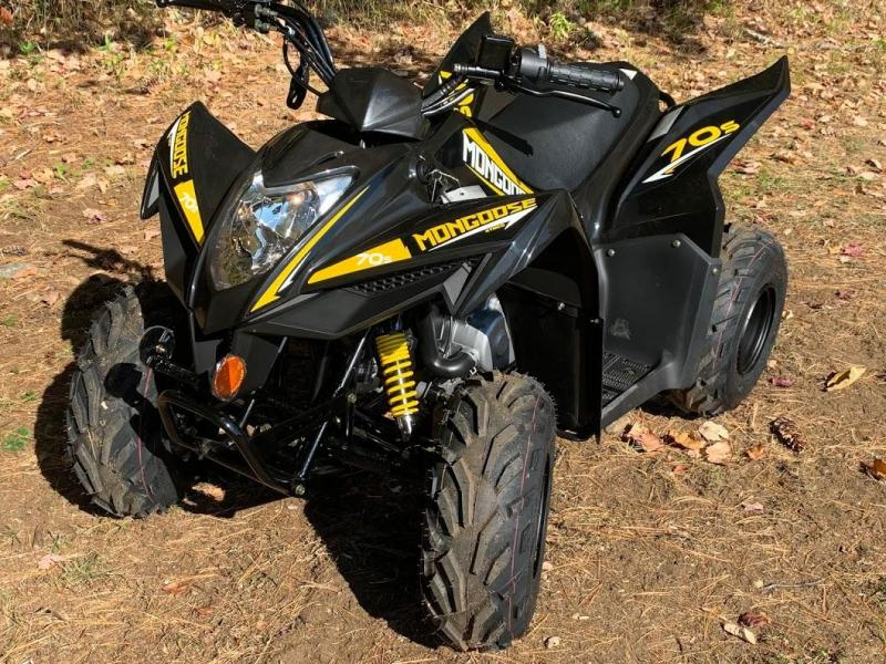 Black Friday Sale! 2021 KYMCO Mongoose 70S ATV YOUTH AGE 6 UP- BLACK
