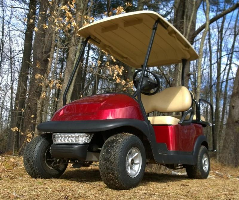 Club Car Precedent 4 pass electric golf cart-CANDY APPLE RED-GORGEOUS