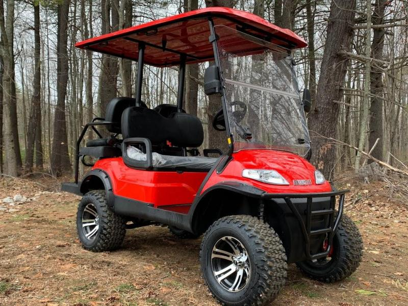 Spring Special!! 25 MPH NEW AEV LUXURY Lifted Street Legal LSV 48 Volt 4 PERSON electric golf car-Red