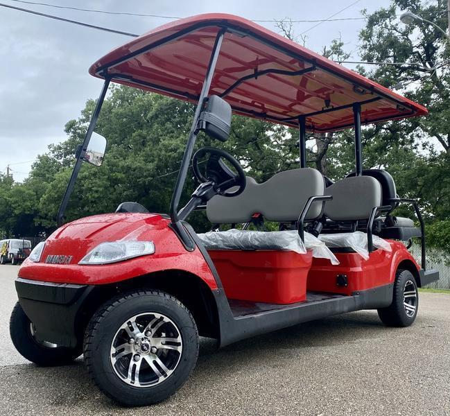 Summer Special!! 25 MPH NEW AEV LUXURY 48 Volt 6 PERSON electric golf car limo-Red