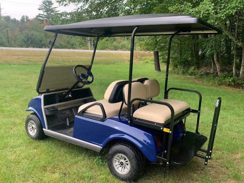 Custom Club Car Spartan 4 pass Metallic Navy Golf Car
