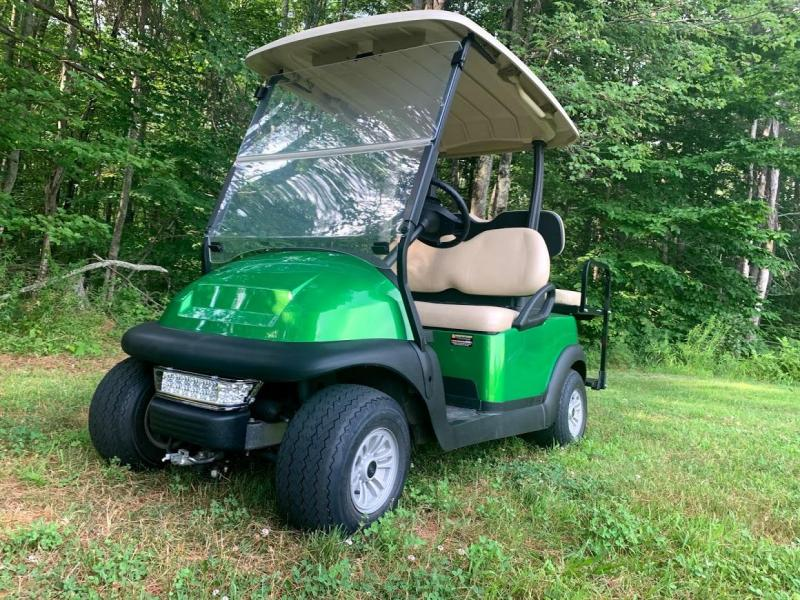Synergy Green Metallic Club Car Electric 4 Pass Golf Cart 2020 battery