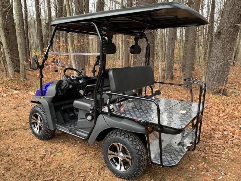 Eagle 200GX 25 MPH GAS 4 pass golf car style UTV-Blue