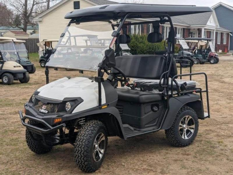 Taurus 200GX 25 MPH Fuel Injected GAS 4 pass golf car style UTV w/Hi-Lo gears-WHITE