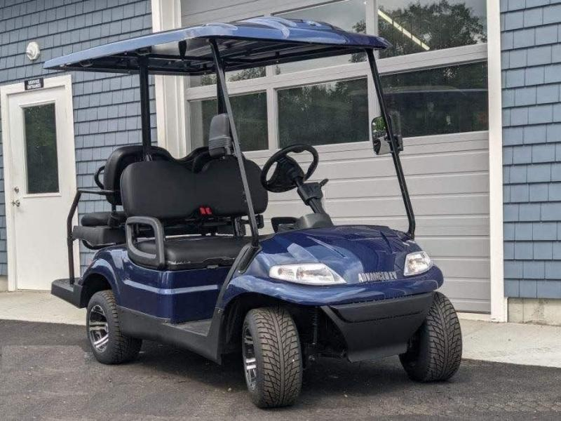 Fall Special!! 25 MPH NEW AEV LUXURY 48 Volt 4 PERSON electric golf car-NAVY (compare to ICONi40)