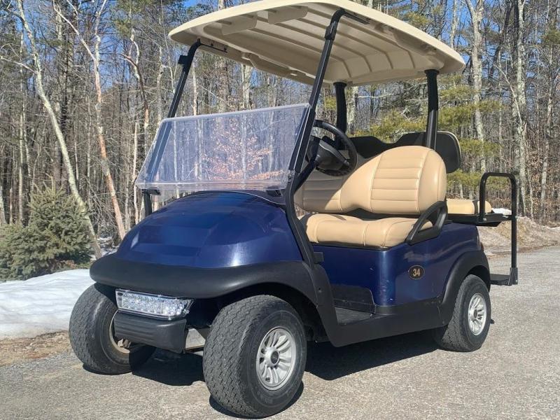 Special Offer-Classic Blue Precedent 4 pass 48 Volt golf cart