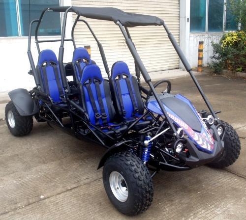 NEW Trailmaster Blazer 200X 4 Passenger Family Go Kart 28MPH Blue