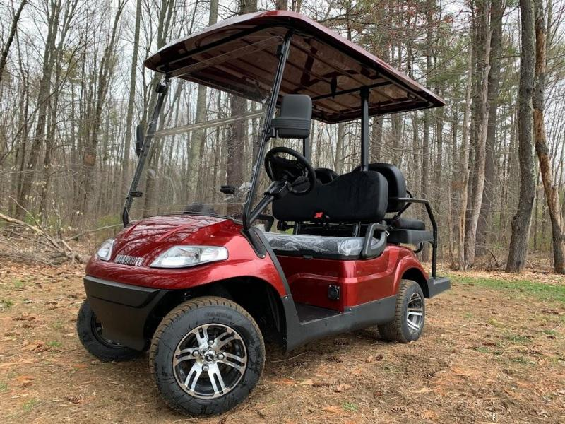 Summer Special!! 25 MPH NEW AEV LUXURY 48 Volt 4 PERSON electric golf car-Burgundy