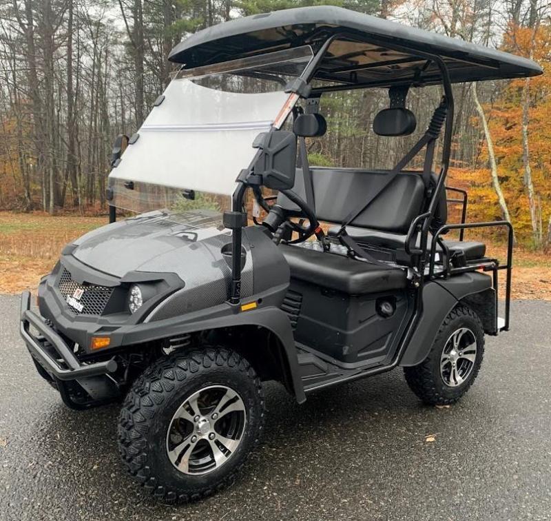 Taurus 200GX 25 MPH GAS 4 pass golf car style UTV w/Hi-Lo gears-Carbon Fiber