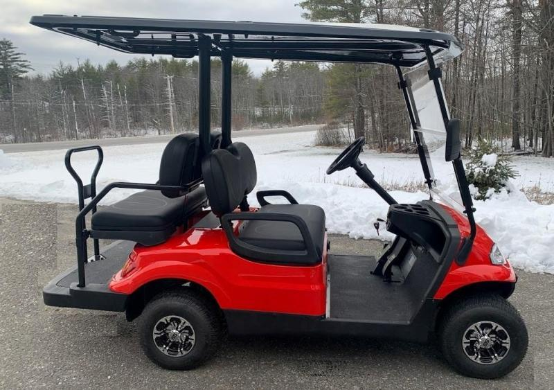 WINTER CLEARANCE! NEW LVT LUXURY 48 Volt 4 PERSON electric golf car-Red