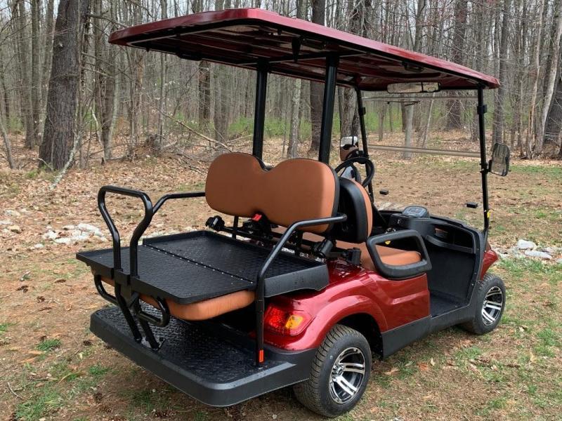 Spring Special!25 MPH LUXURY Street Legal 48v 4 pass golf car Burgundy