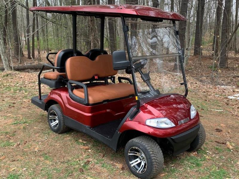 Spring Special!25 MPH LUXURY Street Legal 48v 4 pass golf car Burgundy