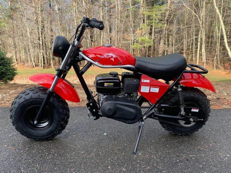 Holiday Special! New Trailmaster MB200 Mini Bike great for trail rides-RED