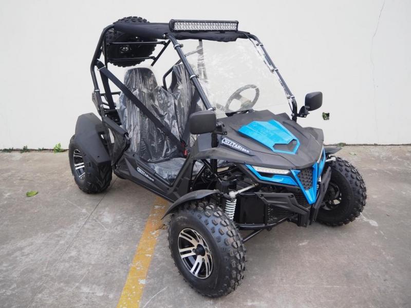 Trailmaster Cheetah 150X Deluxe Go Kart Adult 38 MPH UTV/GO KART BLUE