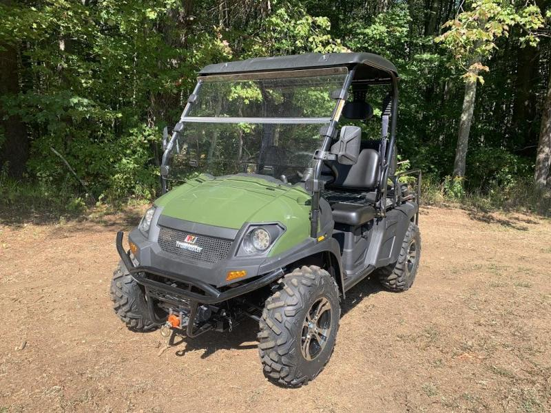Trailmaster Taurus 450G EFI 4X4 4 passenger UTV with fold down seat 43MPH 26HP GREEN