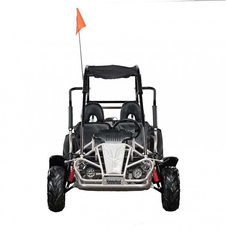 Early Bird Special! NEW Hammerhead MudHead 208R Go Kart ages 8-13-Silver