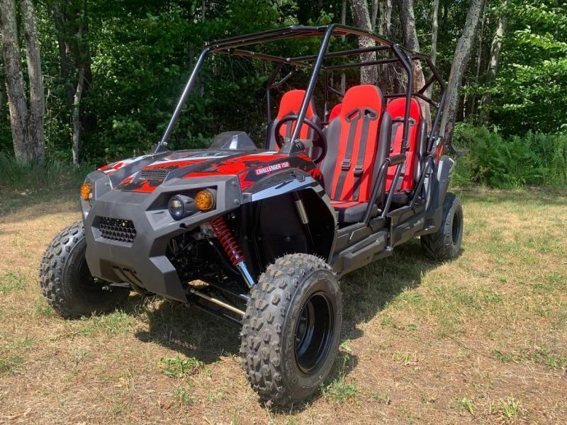 TrailMaster Challenger4 200 4 PASSENGER Go Kart UTV BLACK