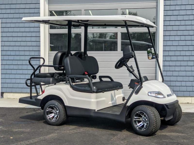 Fall Special!! 25 MPH NEW AEV LUXURY 48 Volt 4 PERSON electric golf car-White(compare to ICONi40)