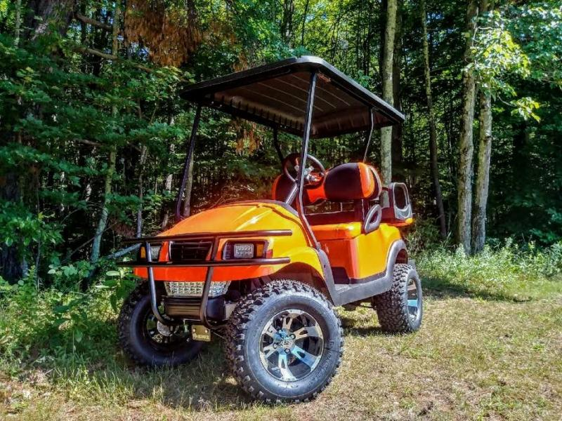 CUSTOM Precedent HARLEY ORANGE Phantom ELEC 4PASS Golf Cart