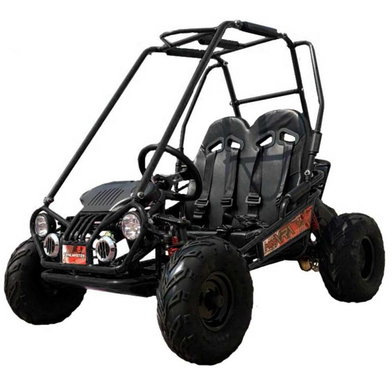 Trailmaster Mini XRX+ Go Kart Youth size ages 5-9 BLACK 12MPH