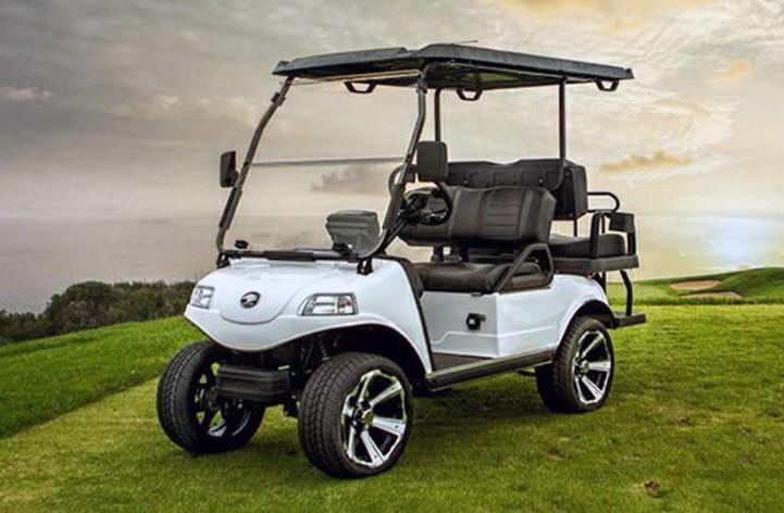 "New Evolution Classic 4 ""PLUS"" STREET LEGAL LSV 25MPH golf car Silver"
