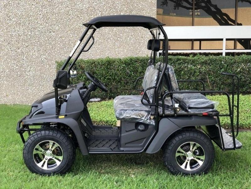 Eagle 200GX 25 MPH GAS 4 pass golf car style UTV-Black