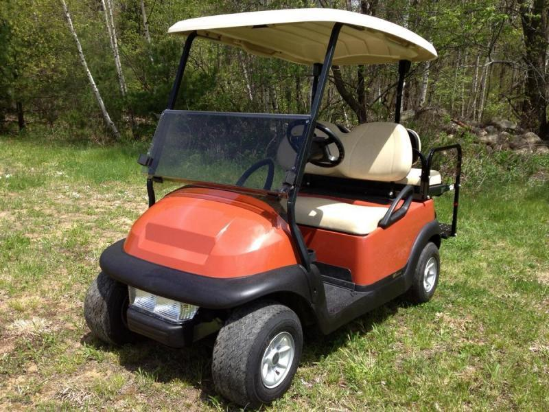 Club Car Precedent 4 Pass 48 volt BRICK RED 2019 BATTERY w/LED LIGHTS