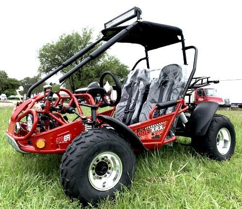 NEW Trailmaster 200E XRX Fuel Injected 43 MPH Go Kart Teen-Adult RED