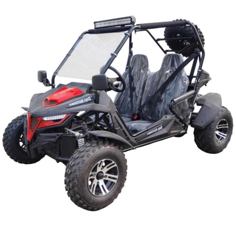 Trailmaster Cheetah 150X Deluxe Go Kart ADULT 38MPH UTV/GO KART RED