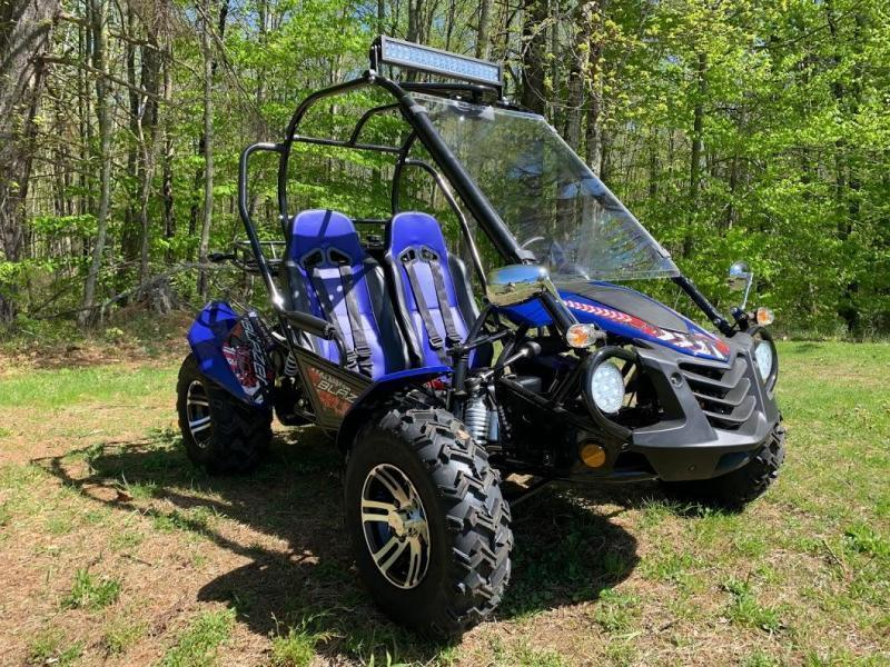 NEW Trailmaster Blazer 200X Go Kart Teen-Adult 43MPH REVERSE-Blue
