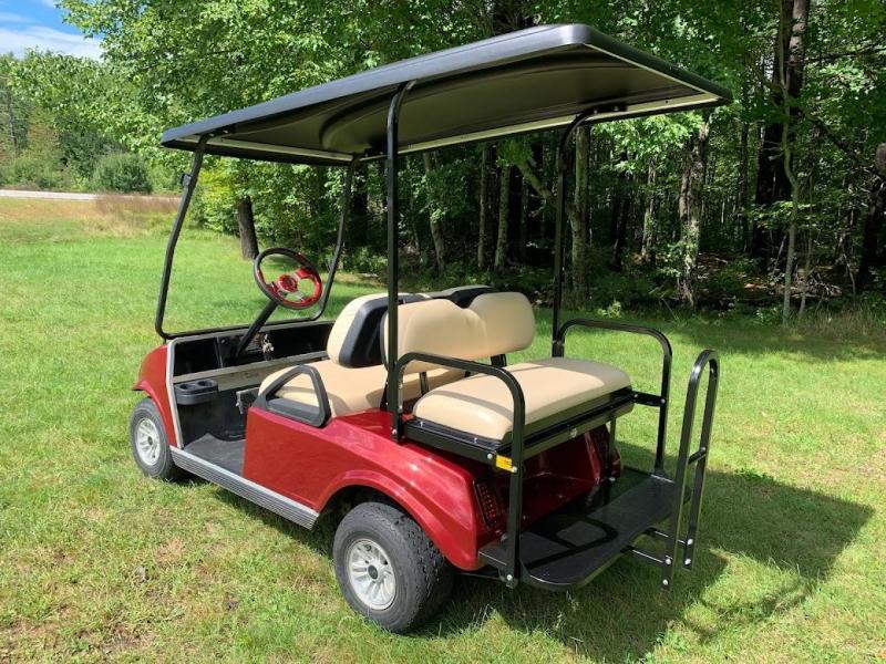Custom Club Car Spartan 4 pass Metallic Burgundy Golf Car