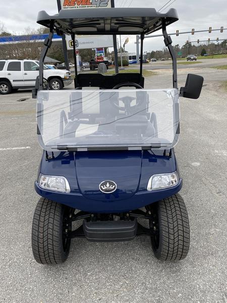 "New Evolution Classic 4 ""PLUS"" STREET LEGAL LSV 25MPH golf car NAVY BLUE"