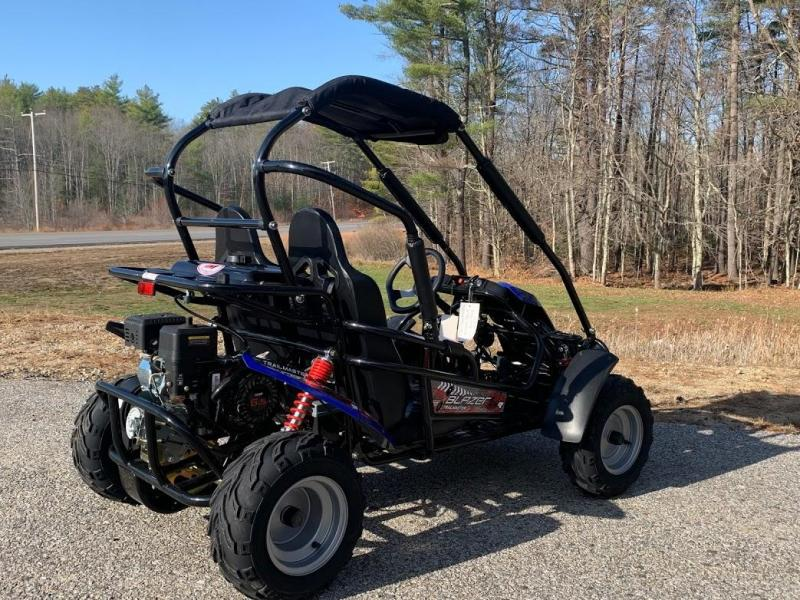 Winter Special IN STOCK! TrailMaster Blazer 200 31MPH Go Kart age 8-13 Blue