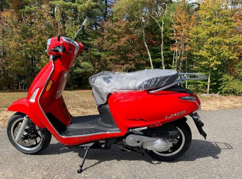 New 2021 KYMCO LIKE 50I Scooter-Classic Red In stock and ready to go!