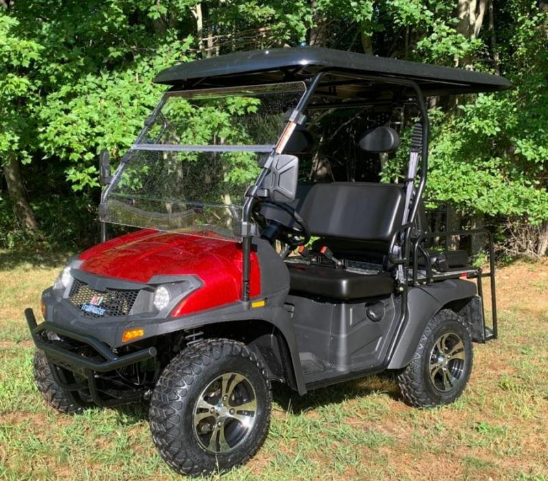 Eagle 200GX 25 MPH Fuel Injected GAS 4 pass golf car style UTV-Red