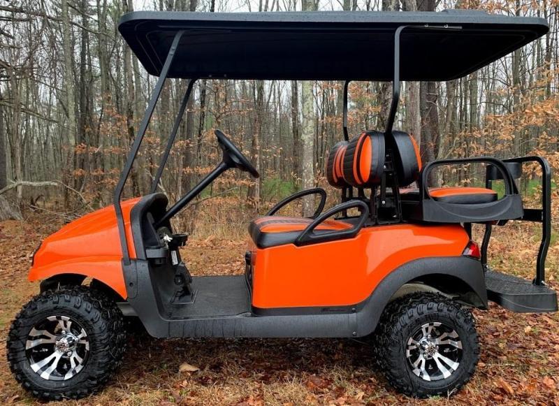 CUSTOM Precedent HARLEY ORANGE/BLK Phantom ELEC 4PASS Golf Car LIFTED