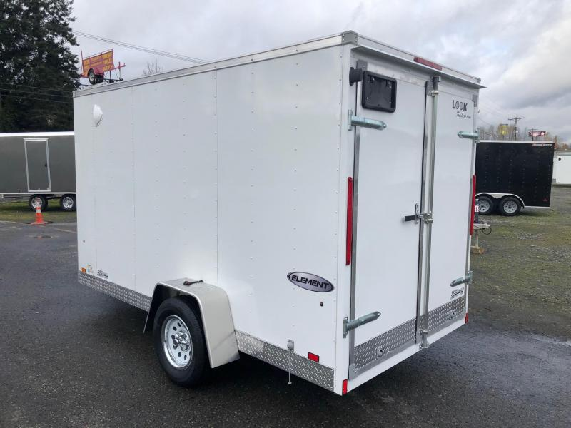 2021 Look Trailers 6' x 12' Element Cargo / Enclosed Trailer