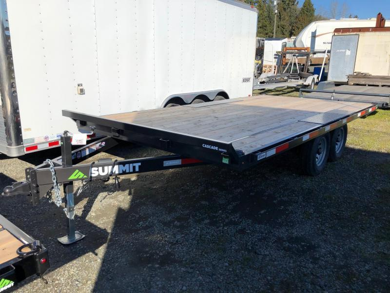 2021 Summit Cascade Deckover Flatbed Trailer