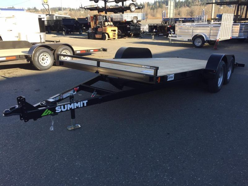 2021 Summit 7' X 18' Alpine Tiltbed Flatbed Trailer