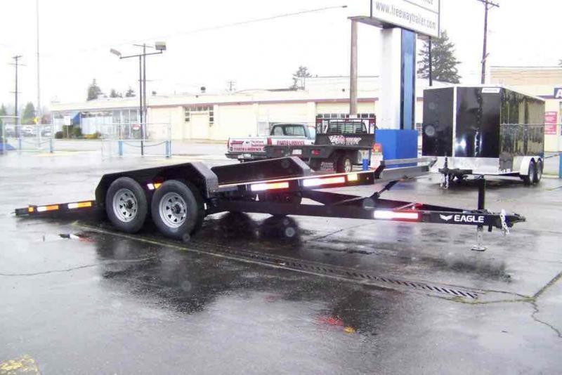 2022 Eagle Trailer 7' X 18' ETB718TA3 Eagle Tilt Bed Flatbed Trailer