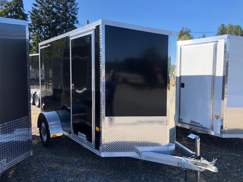 2021 Alcom-Stealth 6' X 10' V-Front Stealth Cargo Enclosed Cargo Trailer