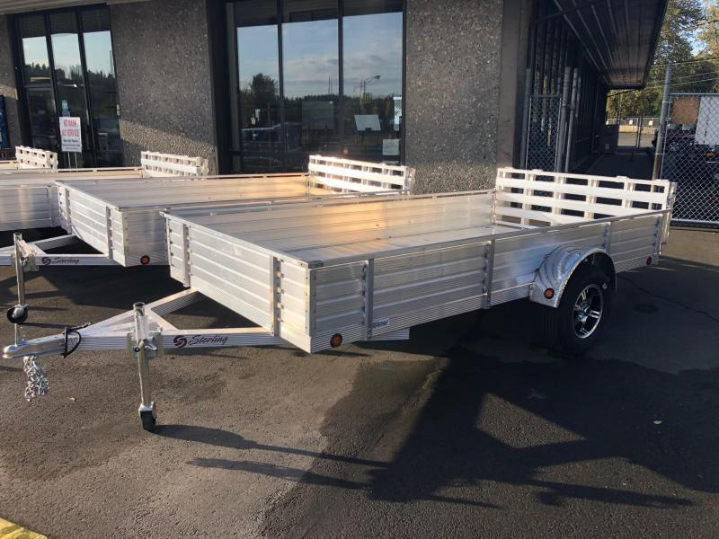 "2020 Sterling Trailers 6' X 12' Aluminum 16"" Solid Sides Utility Trailer"