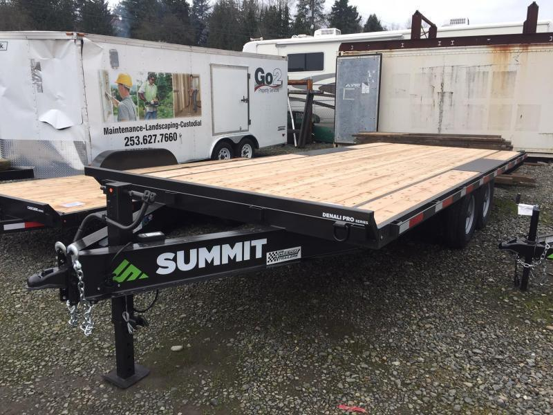 2021 Summit 8.5' X 20' Denali Pro Flatbed Trailer